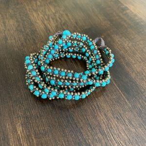 Anthropologie Turquoise Wrap Bracelet